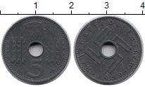 Изображение Монеты Третий Рейх 5 пфеннигов 1940 Цинк XF