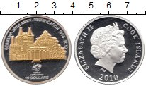 Изображение Монеты Новая Зеландия Острова Кука 10 долларов 2010 Серебро Proof