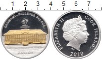 Изображение Монеты Острова Кука 10 долларов 2010 Серебро Proof