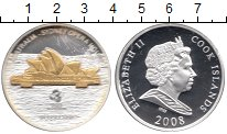 Изображение Монеты Острова Кука 10 долларов 2008 Серебро Proof- Елизавета II. Австра