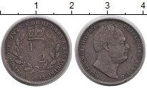 Изображение Монеты Великобритания Эссекуибо и Демерара 1/2 гульдена 1835 Серебро XF-