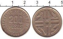 Изображение Дешевые монеты Колумбия 200 песо 2008 Медно-никель XF-