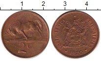 Изображение Дешевые монеты ЮАР 2 цента 1970 Медь XF-