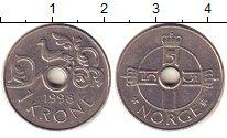 Изображение Барахолка Норвегия 1 крона 1998 Медно-никель XF