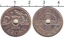 Изображение Барахолка Норвегия 1 крона 2006 Медно-никель XF