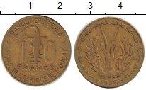 Изображение Барахолка Центральная Африка 10 франков 1978 Латунь XF