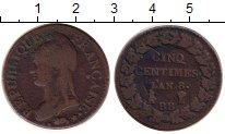 Изображение Монеты Франция 5 сантим 1799 Бронза VF