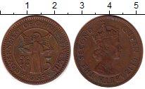 Изображение Монеты Кипр 5 милс 1955 Бронза XF-