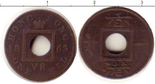 Картинка Монеты Гонконг 1 мил Бронза 1863