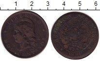 Изображение Монеты Аргентина 2 сентаво 1891 Бронза XF-