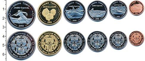 Изображение Наборы монет Резервация Хамул Индейцы Резервация Хамул Индейцы 2016 2016  UNC Эскимосы. В наборе 6