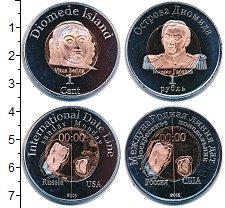 Изображение Наборы монет Острова Диомида Острова Диомида 2015 2015  UNC- В наборе 2 монеты но
