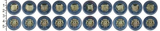 Изображение Наборы монет Пунтленд Кошки мира 2015 2015  UNC- В наборе 10 монет но