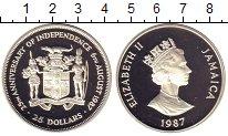 Изображение Монеты Ямайка 25 долларов 1987 Серебро Proof-