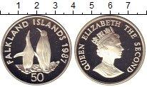 Изображение Монеты Фолклендские острова 50 пенсов 1987 Серебро Proof-