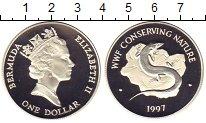 Изображение Монеты Бермудские острова 1 доллар 1997 Серебро Proof-