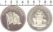 Изображение Монеты Багамские острова 5 долларов 1974 Серебро Proof-