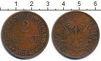 Изображение Монеты Гаити 2 цента 1894 Медь VF