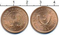Изображение Монеты Уганда 5 центов 1966  UNC-