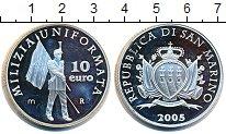 Изображение Монеты Сан-Марино 10 евро 2005 Серебро Proof-