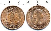 Изображение Монеты Великобритания 1/2 пенни 1967 Медь UNC-