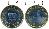 Изображение Монеты Финляндия 5 евро 2015 Биметалл