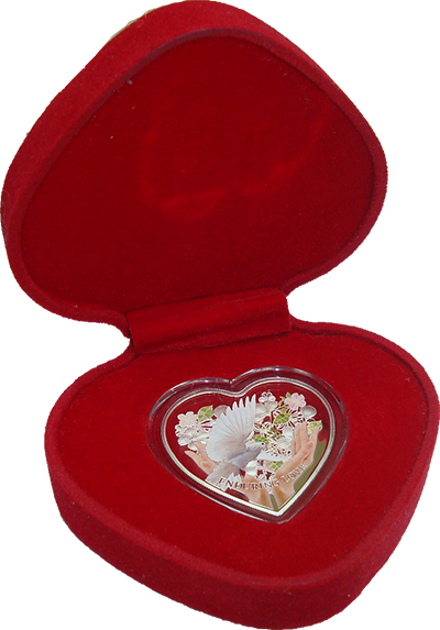 Изображение Подарочные монеты Острова Кука 1 доллар 2012 Серебро Proof Елизавета II. Тампоп