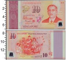 Изображение Банкноты Сингапур 10 долларов 2015  XF