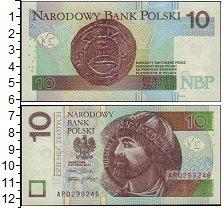 Изображение Банкноты Польша 10 злотых 2012  UNC- Мешко I. Первый поль