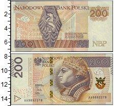 Изображение Банкноты Польша 200 злотых 2015  XF Зигмунд I.