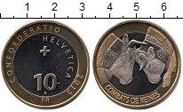Изображение Монеты Швейцария 10 франков 2012 Биметалл UNC