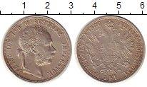 Изображение Монеты Австрия 1 флорин 1886 Серебро XF