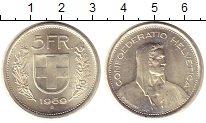 Изображение Монеты Швейцария 5 франков 1969 Серебро UNC- Регулярный  выпуск.