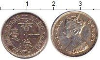 Изображение Монеты Гонконг 10 центов 1898 Серебро XF Королева  Виктория.