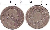 Изображение Монеты Тоскана 1 лира 1860 Серебро VF Виктор  Эммануил.