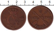 Изображение Монеты Швеция 1/2 скиллинга 1803 Медь XF Густав IV Адольф