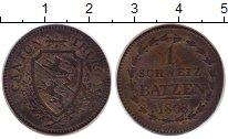 Изображение Монеты Швейцария Тургау 1 батзен 1808 Серебро XF-