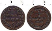 Изображение Монеты Швейцария 1/2 батзена 1799 Серебро VF Республика Хелветика