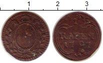 Изображение Монеты Швиц 1 рапп 1797 Медь VF