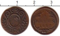 Изображение Монеты Швиц 1 рапп 1812 Медь XF-