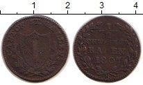 Изображение Монеты Сен-Галлен 1/2 батзена 1807 Серебро VF