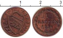 Изображение Монеты Берн 1 раппен 1836 Медь XF-