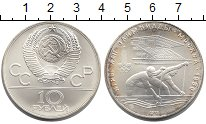 Изображение Монеты СССР 10 рублей 1978 Серебро UNC Олимпиада 80. Москва