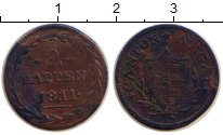 Изображение Монеты Аргау 2 раппа 1811 Серебро VF