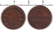 Изображение Монеты Бавария 1 пфенниг 1867 Медь VF