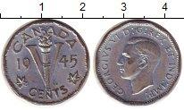 Изображение Монеты Канада 5 центов 1945 Цинк XF