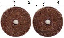 Изображение Монеты Родезия 1/2 пенни 1957 Бронза XF Елизавета II.