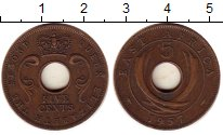 Изображение Монеты Восточная Африка 5 центов 1957 Бронза XF