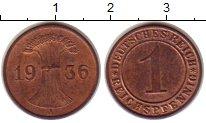 Изображение Монеты Веймарская республика 1 пфенниг 1936 Бронза XF