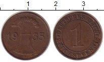 Изображение Монеты Веймарская республика 1 пфенниг 1935 Бронза XF E